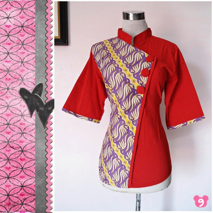 Aiko Blouse  Code: 02  Material: Cotton Batik Process Wash  Size:  - Chest Circumference: 98cm  - Length: 64cm  - Sleeve length: 34cm  Price: IDR 130,000  Info: Use Resleting Side    STOCK 2 PCS