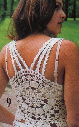 Free Crochet Pattern Tank Top blusa