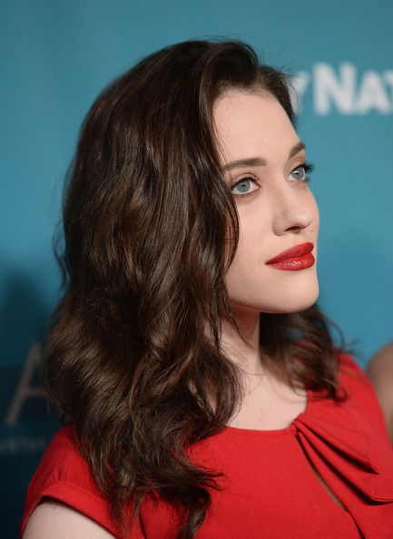 Kat Dennings Lookbook: Kat Dennings wearing Medium Wavy Cut (2 of 10). Kat Dennings looked lovely with her high-volume waves at the Backstage at the Geffen Gala.