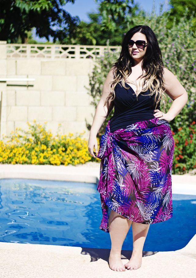 plus size maxi kjole badedragt simpelthen være Zelie for hun simplybe elann Zelie plus badedragt