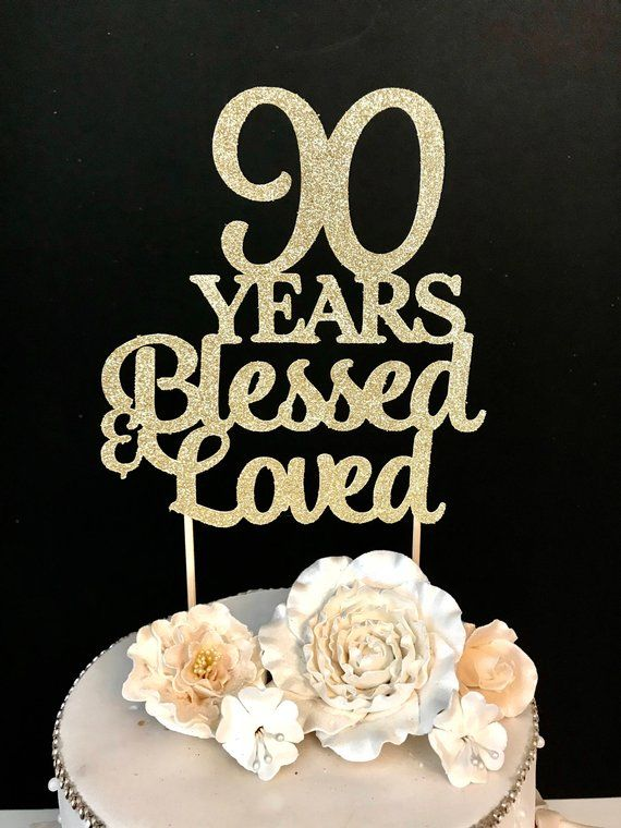 Brilliant Any Number Birthday Cake Topper 90Th Birthday Topper 90 Years Personalised Birthday Cards Veneteletsinfo