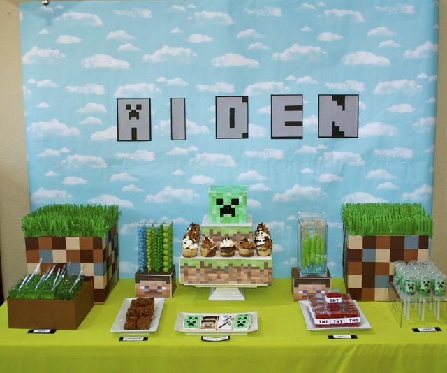 """Photo 3 of 10: Minecraft! / Birthday """"Aiden's Minecraft Birthday!""""   Catch My Party"""