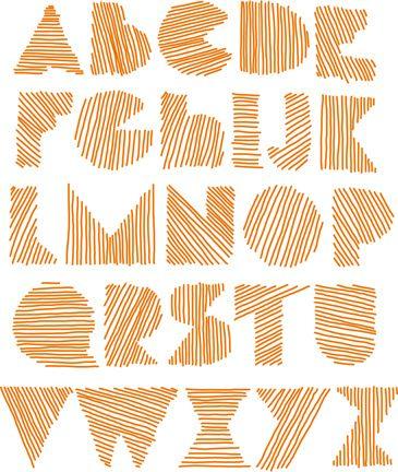 Alphabet ~ *cool* font! From Aida Mollenkamp