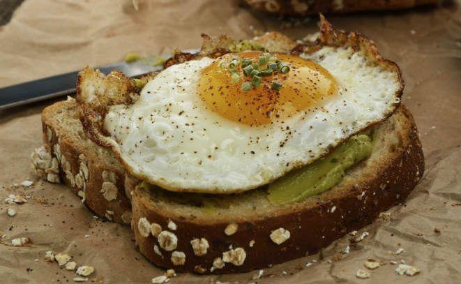 Open-Faced Egg And Avocado Sandwich | Breakfast | Pinterest