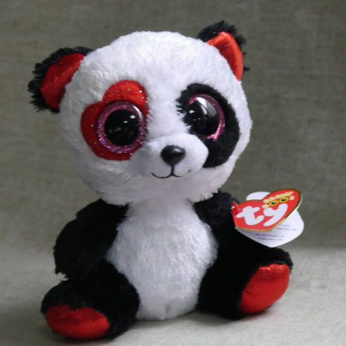 TY BEANIES BOOS Red Panda Valentina Stuffed 6