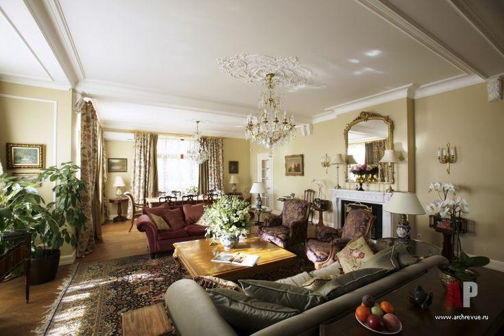 Фото интерьера гостиной дома в английском стиле