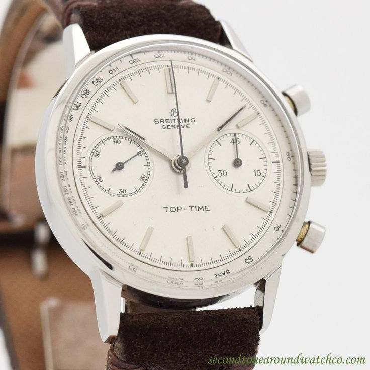 1965 Vintage Breitling Top-Time Chronograph Ref. 2002 Stainless Steel Watch