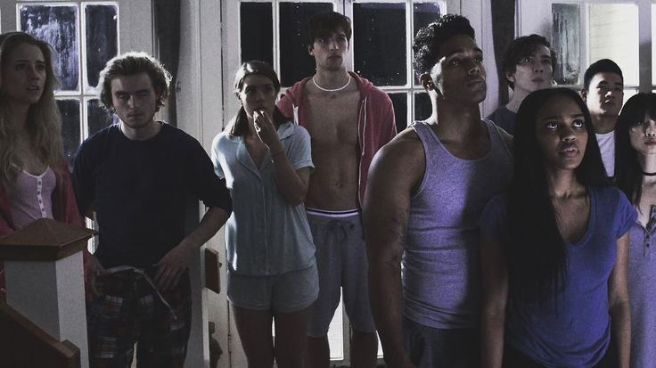 Cassidy Grifford (Minnie), Callan Mcauliffe (Ben), Meg Cashel (Vivian), Zak Steiner (Gunner), Rome Flynn (TJ), China Anne McClain (Meg), Dylan Arnold (Nathan), Matt Mercurio (Kenny) & Annie Q. (Kumiko) | TEN: Murder Island | Lifetime | IG: @meg_cashel