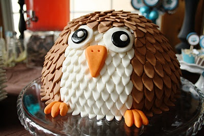 Owl Cake from Creative Mommas: Owl Themed Baby Shower