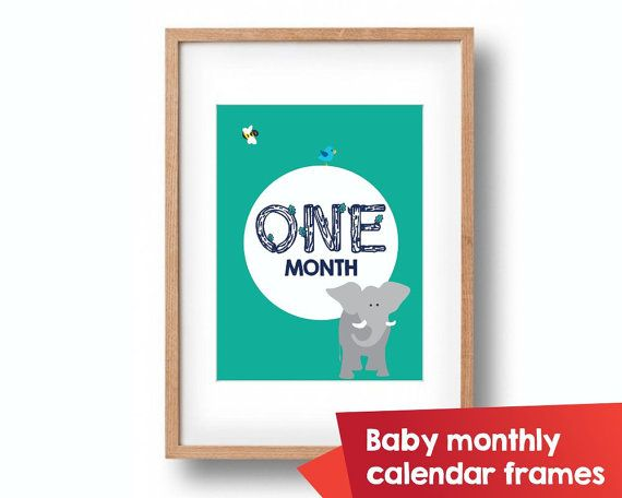 9 best Baby Monthly calendar frames images on Pinterest | Calendar ...