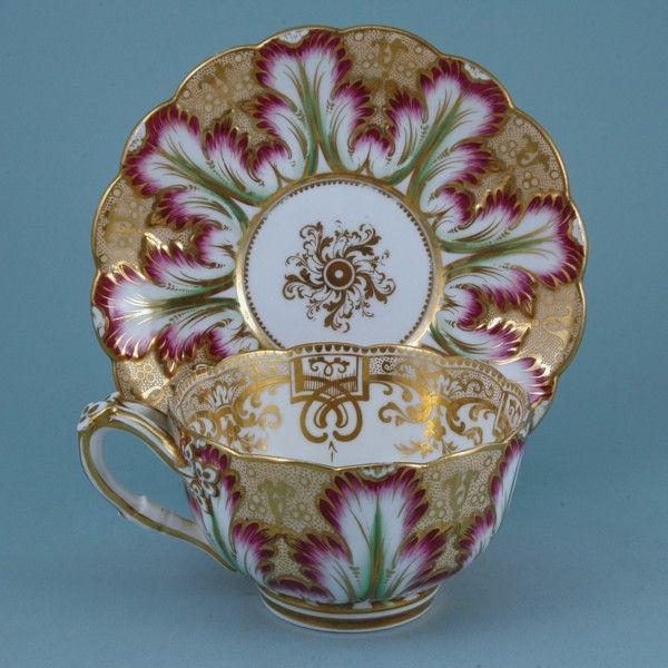 English Porcelain Breakfast Cup & saucer (England)