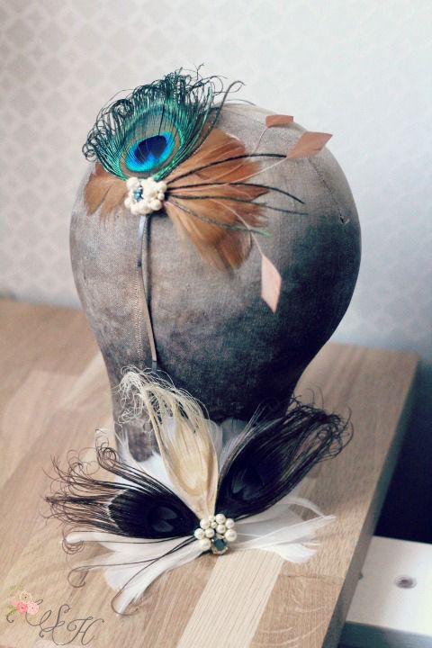 Accessoires cheveux mariage th me r tro art d co headband for Accessoire deco