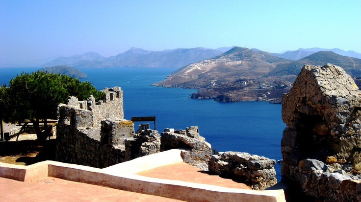 Panoramic view from the Castle - Leros Island (Greece)