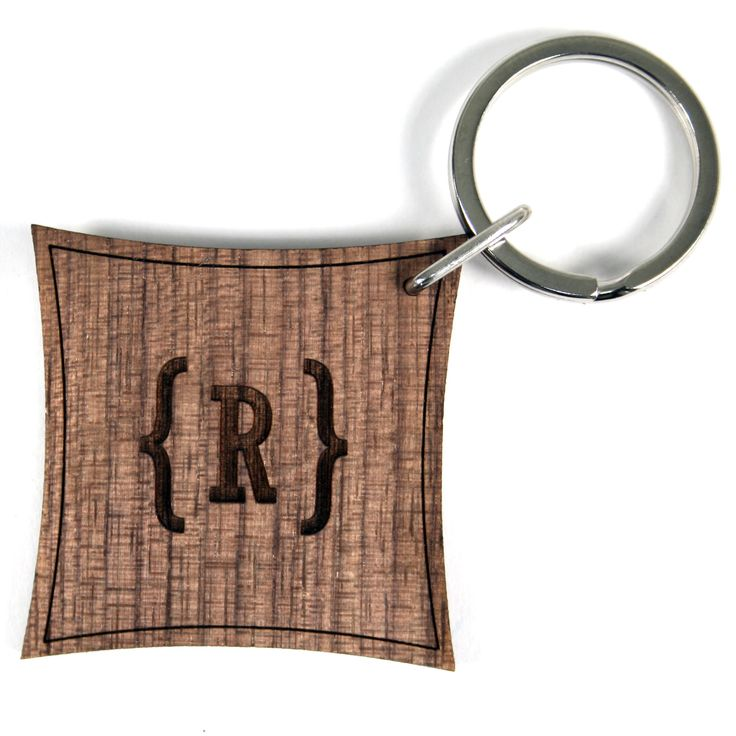 Personalised Initial Wooden Keyring - yourgifthouse