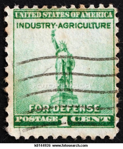 Postage stamp USA 1940 Statue of Liberty