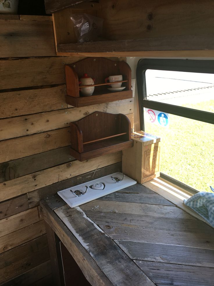 Our home made camper van kitchen from pallets | Camping ...