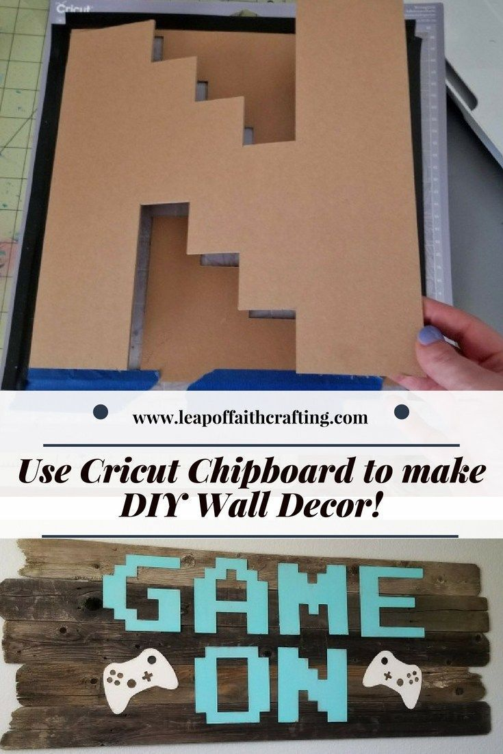Cricut Chipboard Letters Make Great Wall Art With Images