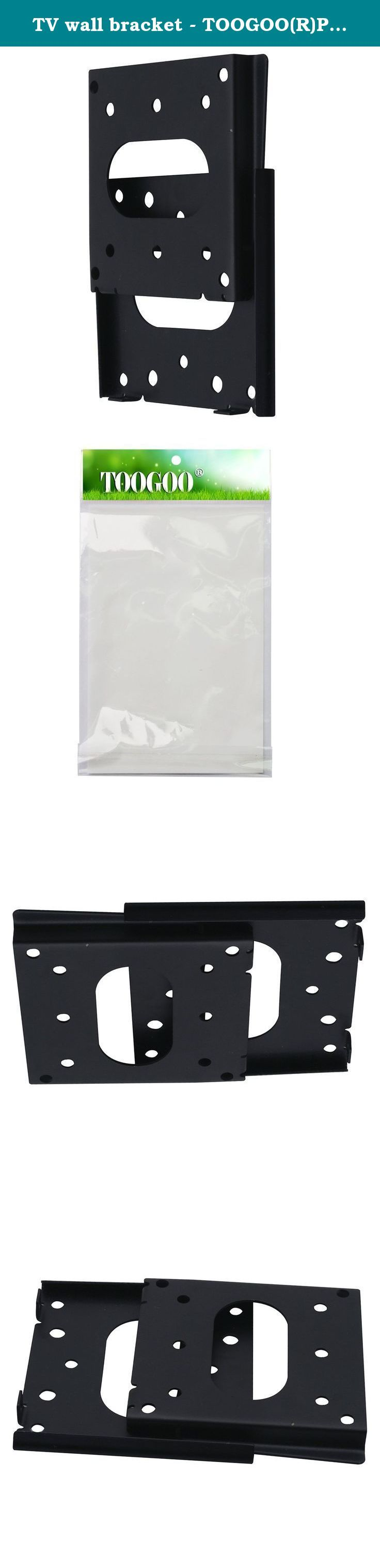 "TV wall bracket - TOOGOO(R)Plsama Ultra Slim Tilt Swivel TV wall mount bracket for 10-70 inch VESA 50-400mm£¨18 Ultra Slim 10""-24"" £. * TOOGOO is a registered trademark. ONLY Authorized seller of TOOGOO can sell under TOOGOO listings. Our products will enhance your experience to unparalleled inspiration. TOOGOO(R)Plsama Ultra Slim Tilt Swivel TV wall mount bracket for 10-70 inch VESA 50-400mm£¨18 Ultra Slim 10""-24"" £© Max Fitting Hole Distance(W x H): 75x75mm;100x100mm Package Include: 1…"