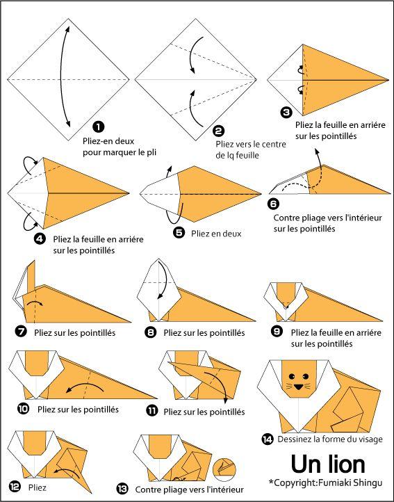 Cute Lion Fantasy Paper Craft Origami Pinterest