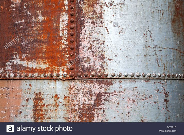 Download this stock image: Old rusted metal background texture with rivets - DBXP1F from Alamy's library of millions of high resolution stock photos, illustrations and vectors.