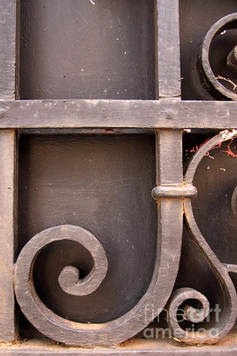 wrought iron letter j