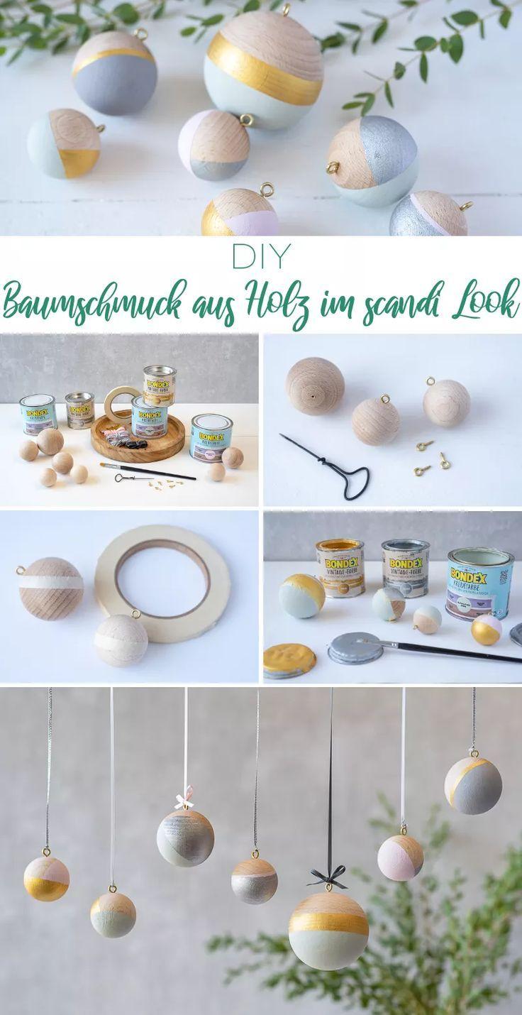 Drei DIY Projekte aus Holz für deine Weihnachtsdeko im scandi Look