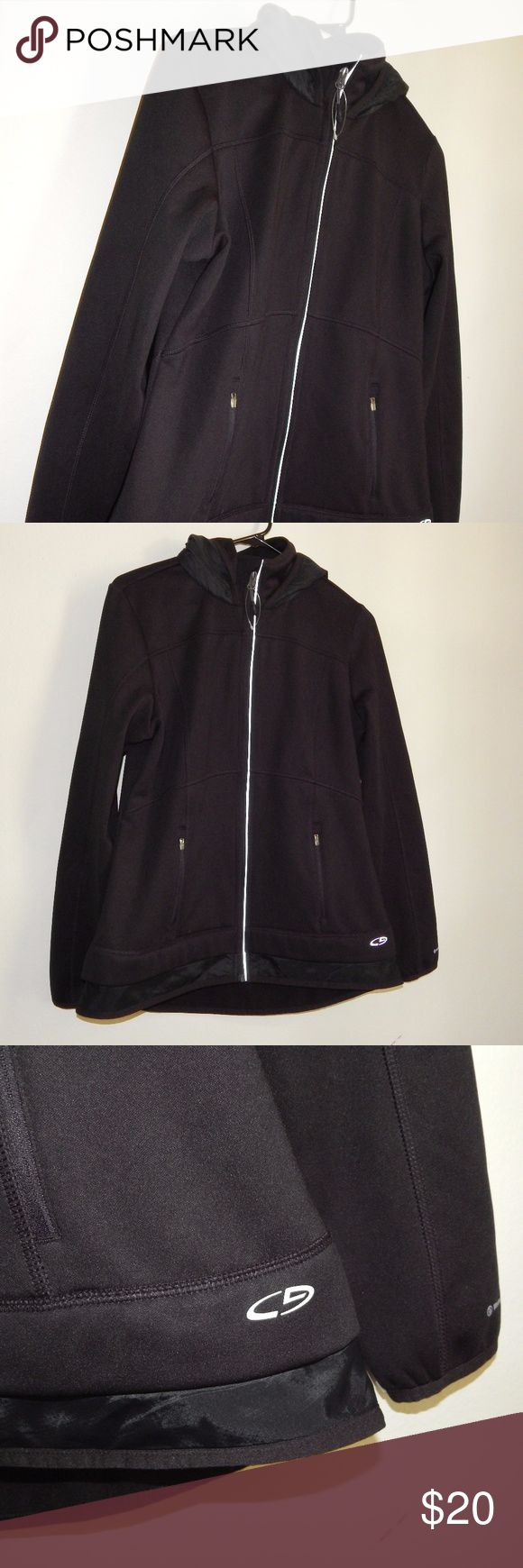 NWOT C9 by Champion Duo Dry Women's Black Hooded P NWOT C9 by Champion Duo Dry Women's Black Hooded Performance/ Athletic Jacket M Medium. This jacket is in excellent condition and has never been worn. New without tag. No stain, rips or damage.  Length:25.5 in  Sleeve: 25 in  Chest:19.5 in Champion Jackets & Coats