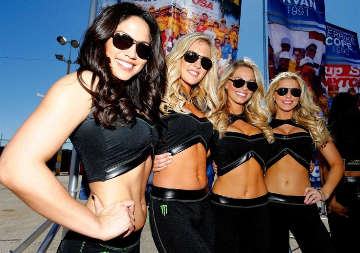 Monster Energy at the track: Daytona 500 weekend  Sunday, February 26, 2017  The Monster Energy Girls were collectively out in force at sunny Daytona.  Photo Credit: Getty Images