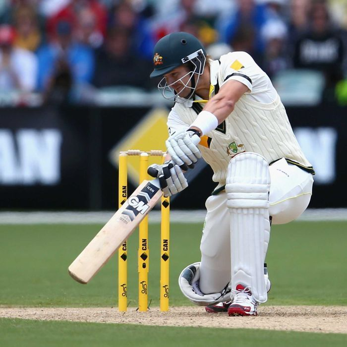 Shane Watson cracks a cover drive on day one of the second Ashes Test | Shane Watson of Australia bats during day one of the Second Ashes Test Match between Australia and England at Adelaide Oval on December 5, 2013 in Adelaide, Australia. Getty Images: Ryan Pierse