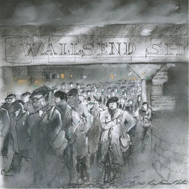 Mass exit signed open edition print by Roy Francis Kirton