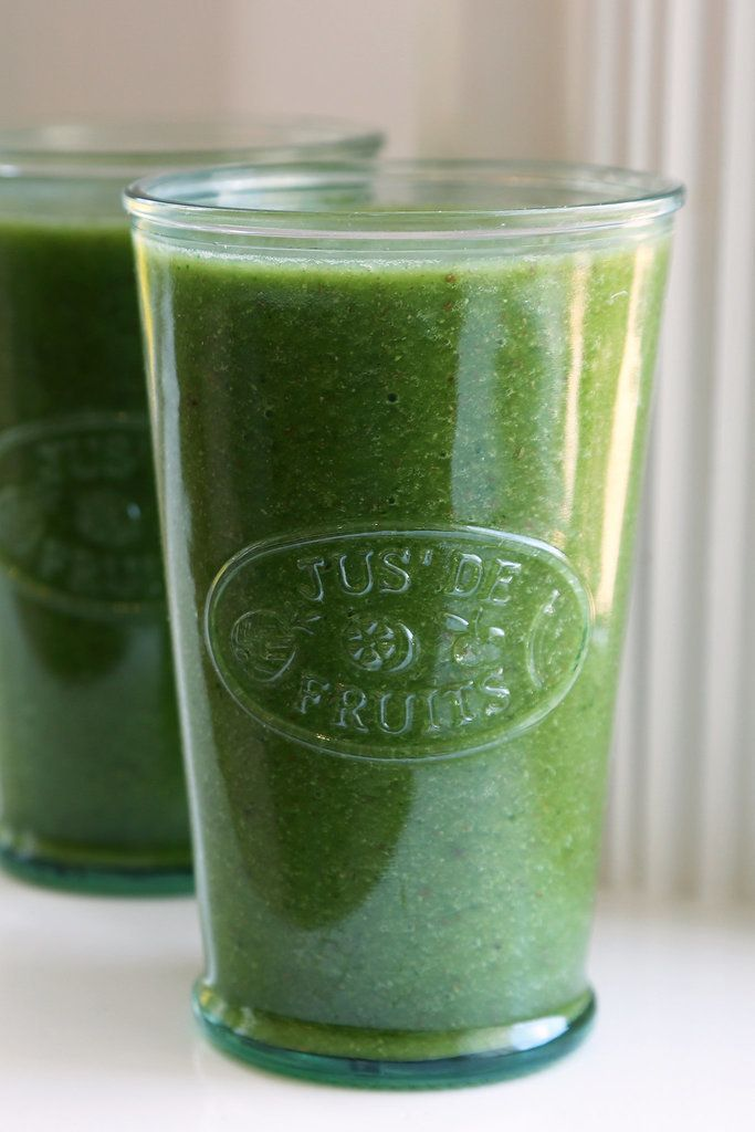 This sweet green smoothie (with kale, cantaloupe, and ginger) packs a serious nutritional punch, and it sneaks in flaxseeds for added protein and fiber.