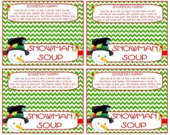 Snowman Soup Treat Bag Topper Printable by SweetDesignsbyRegan