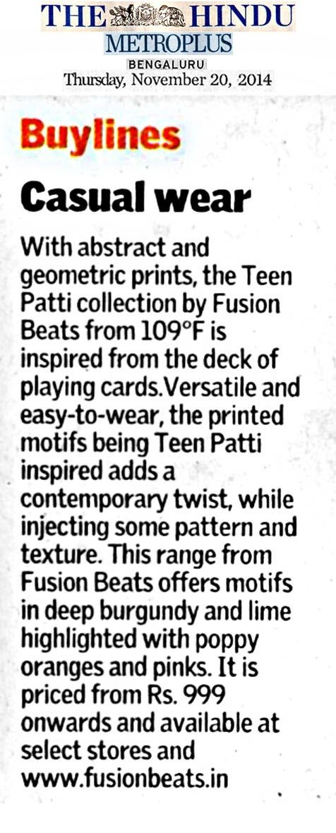 Fusion Beats in The Hindu