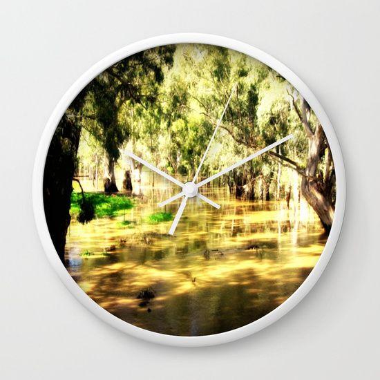 Flooded Plains Wall Clock