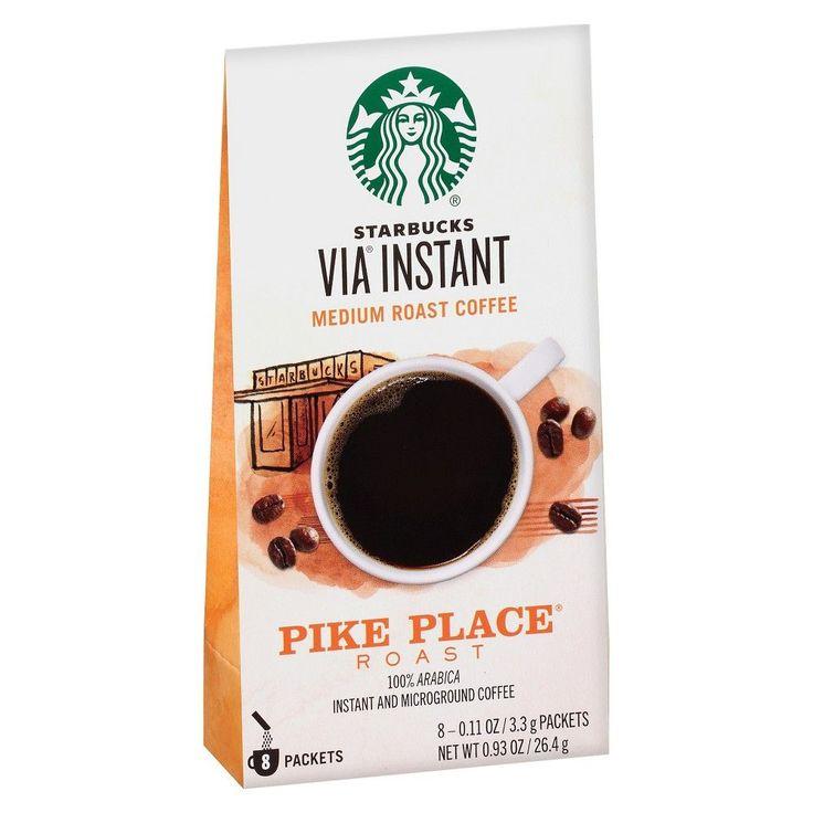 Starbucks Via Pike Place Medium Roast Instant Coffee - 8ct | Medium roast coffee, Coffee ...