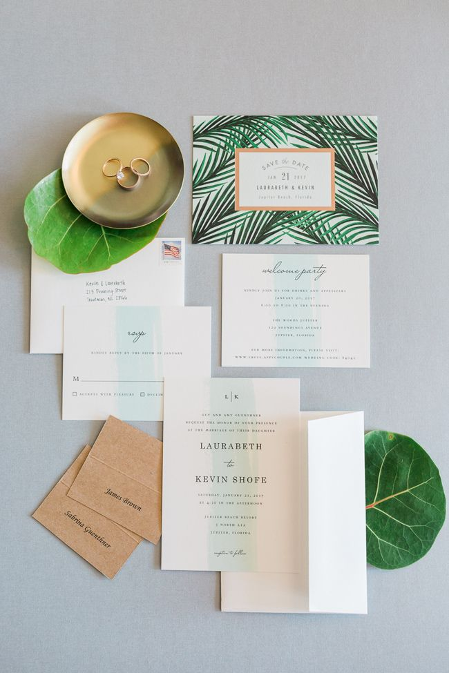 navy blue and kelly green wedding invitations%0A Seafoam   Blue Jupiter Beach Wedding I L  Martin Photography