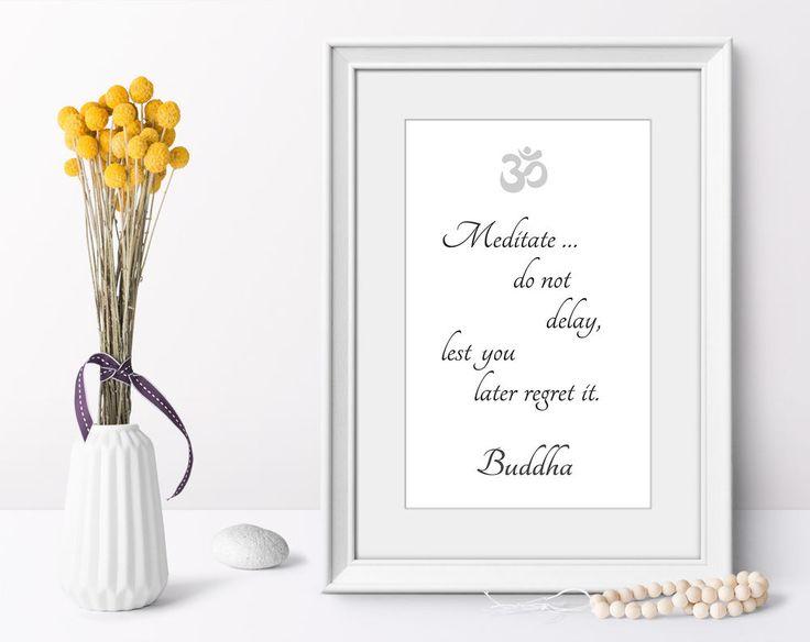 Art print wall art poster Buddha quotes minimalist modern yoga decor on demand #Minimalism