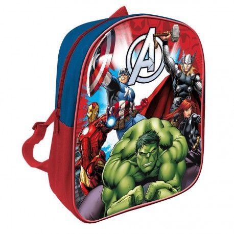Mochila Los Vengadores de #Marvel. Tamaño: 28cm. Hazte ahora con ella por solo 3,98€. Material escolar barato para la vuelta al cole 2015.