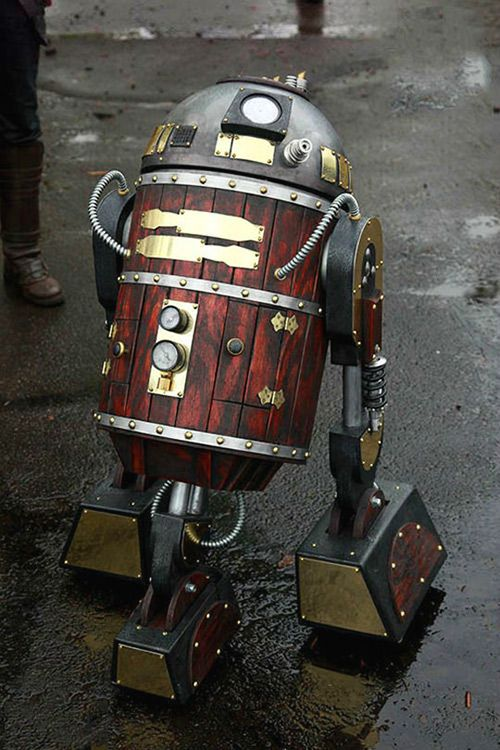 If R2-D2 was given a Victorian-era makeover.
