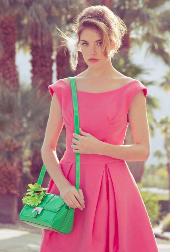 Pink sundress.