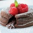 Tortas individuales de lava de chocolate