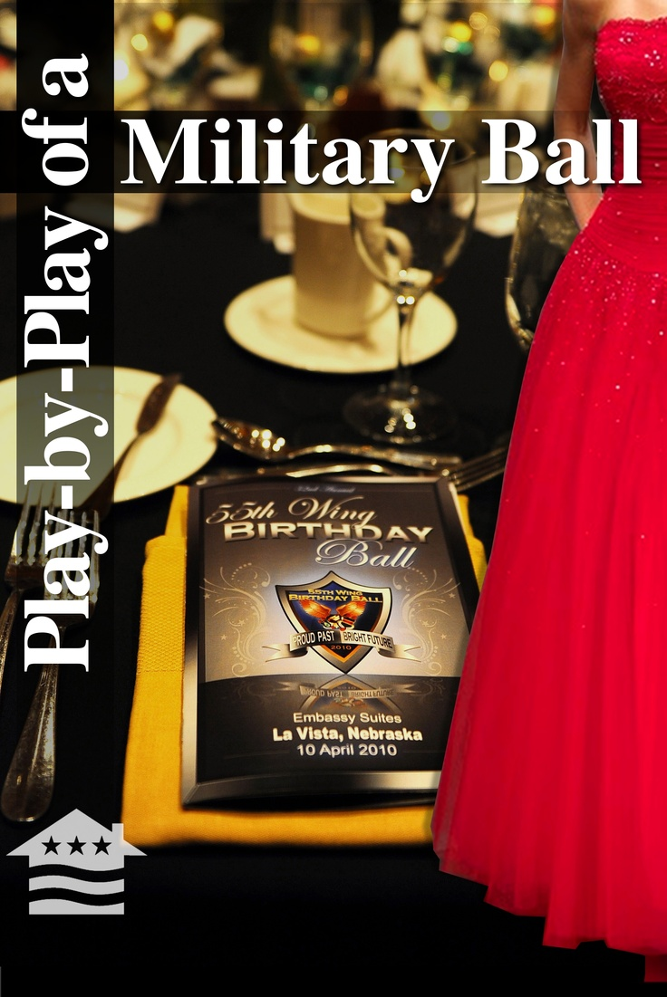 The thought of attending a military ball can seem a bit overwhelming for first-time attendees. To help you prepare for the event, here is a list of things to expect to see at any military ball: