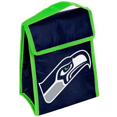 Seattle Seahawks Team Logo Insulated Lunch Bag - College Navy