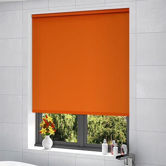cordoba atomic orange blackout roller blind