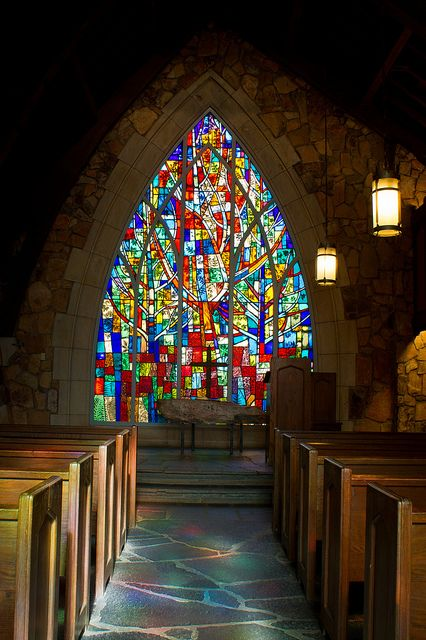 Each stained glass window in Calloway Gardens Chapel depicts a different season!