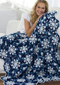 Dusty Snowflake Throw Pattern    Other Afghan patterns:  http://www.purplekittyyarns.com/free-patterns/afghan-patterns.html