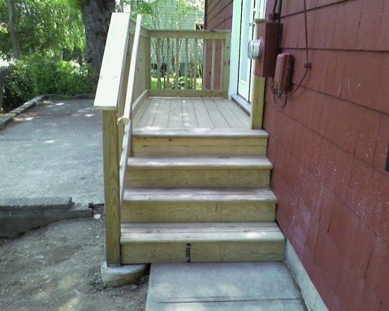 Build Wood Deck Stairs And Landing: 17 Best Images About Steps & Landing On Pinterest