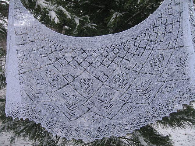 37 best Orenburg Lace Shawl images on Pinterest | Knit ...