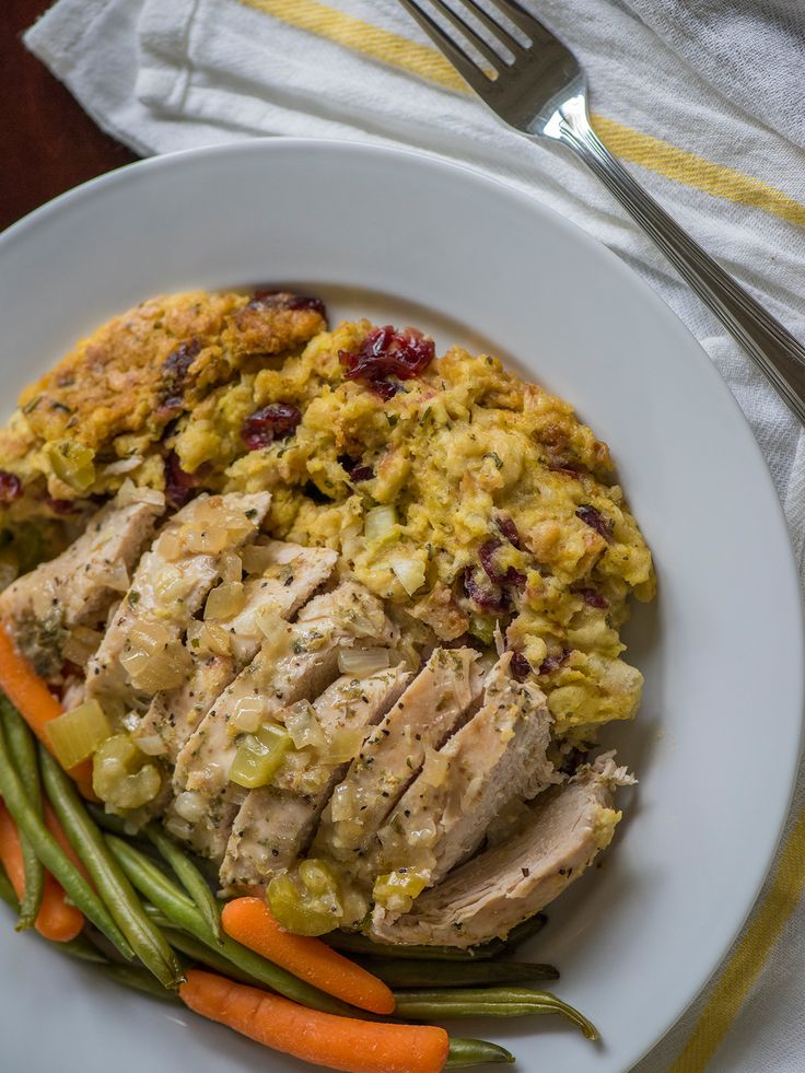 Slow Cooker Chicken And Stuffing Dinner