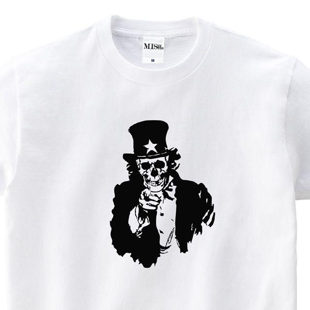 【MISSY MISTER】 アンクル・サム スカルプリントTシャツ
